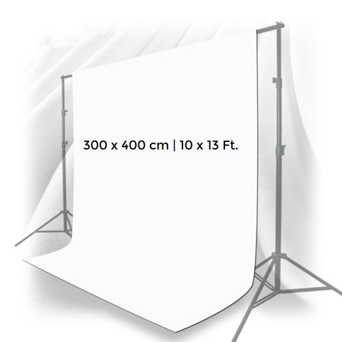 Pxel AA-ML3040W 300cm x 400cm Seamless Muslin Background Cloth Backdrop White
