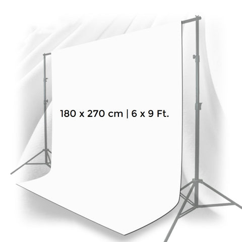 Pxel AA-ML1827W 180cm x 270cm Seamless Muslin Background Cloth Backdrop White