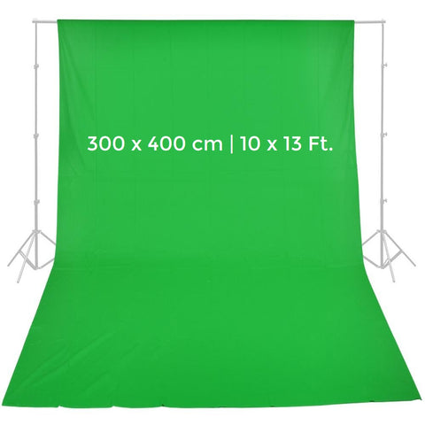 Pxel AA-ML3040G 300cm x 400cm ChromaKey Seamless Muslin Background Cloth Backdrop Green