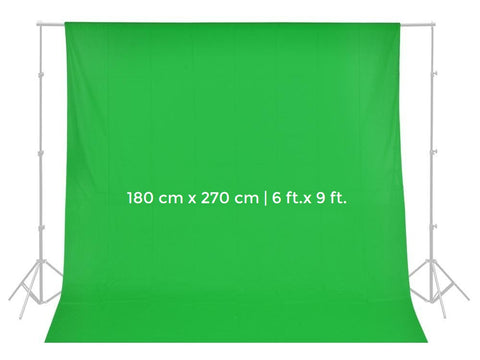 Pxel AA-ML1827G 180cm x 270cm ChromaKey Seamless Muslin Background Cloth Backdrop Green