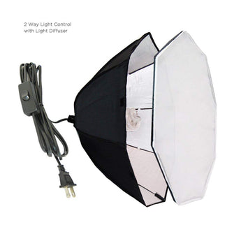 Pxel SB-1B-60 Octagon 1 bulb light head, Softbox Continuous lighting with 1 bulb holders, Photography Octagonal