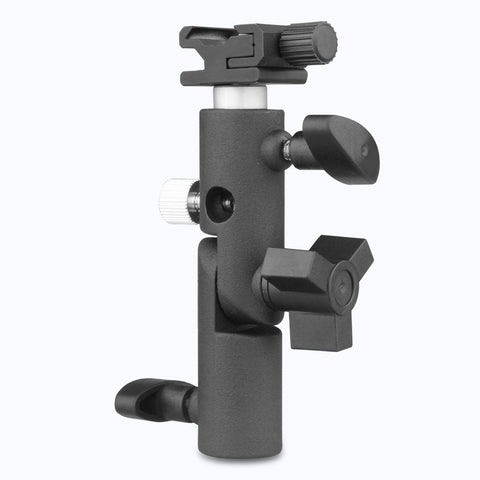Pxel AA-LS4 Flash Bracket Umbrella Holder Swivel Light Stand Adapter Cold Shoe Speedlight