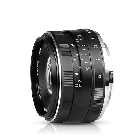 Meike MK-35mm 35mm f1.7 Large Aperture Manual Focus Micro 4/3 Lens for Panasonic Lumix GF 5/6/7 and Olympus 1EM1 EP5 43 system Mirrorless Camera
