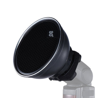 Pxel ST-1F 5.9inch /15cm Silver Beauty Dish Diffuser with 30 Degree Honeycomb for Canon Nikon Yongnuo Godox Neewer Vivitar On-camera Flash Speedlite Photography