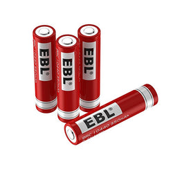 EBL 10440 Li-ion Battery 350 mAh, 3.7V 4pcs/set