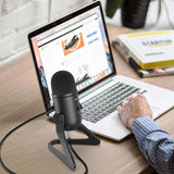 Fifine K678 USB Podcast Microphone for Recording Streaming on PC and Mac, Condenser Computer Gaming Mic for PS4, Mute Button for Vocal, YouTube