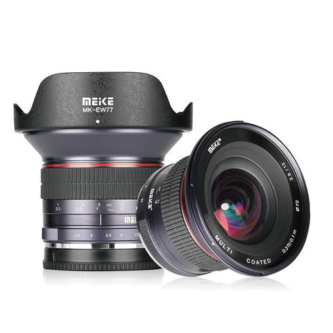 Meike MK-12mm 12mm f/2.8 Ultra Wide Angle Manual Fixed Lens for MFT Micro Four Thirds Panasonic Olympus Mirrorless Camera