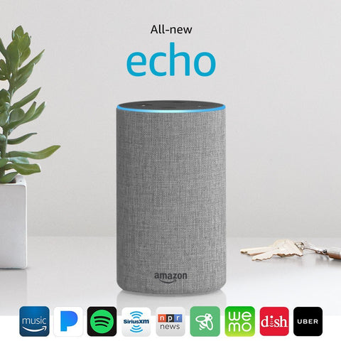 All New Amazon Echo 2nd Generation 2017 with improved sound powered by Dolby