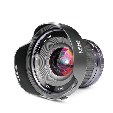 Meike MK-12mm 12mm F/2.8 Ultra Wide Angle Manual Foucs Prime Lens for Sony E Mount APS-C Mirrorless Cameras