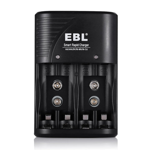 EBL 802 6 Bay Smart fast Battery Charger for AA AAA 9V Batteries