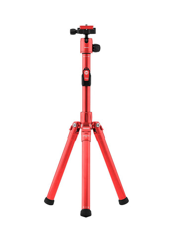 MeFOTO BackPacker Air Tripod and Selfie Stick in One Kit Red