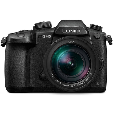 Panasonic LUMIX GH5 4K Mirrorless Camera with Leica 12 60mm Lens