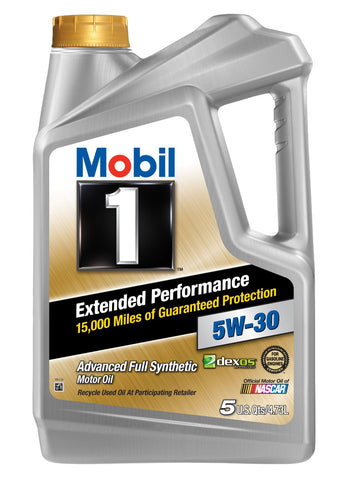 Mobil 1 (120766) Extended Performance 5W-30 Motor Oil 5 Quarts