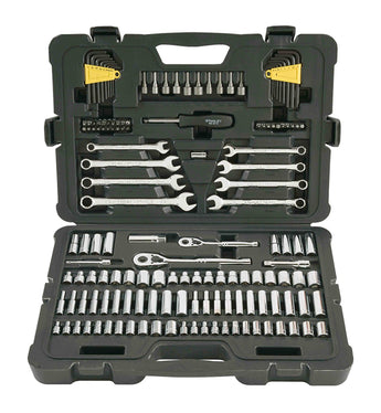 Stanley STMT71653 145-Piece Mechanics Tool Set Torque Ratchet Socket Hex Extensions