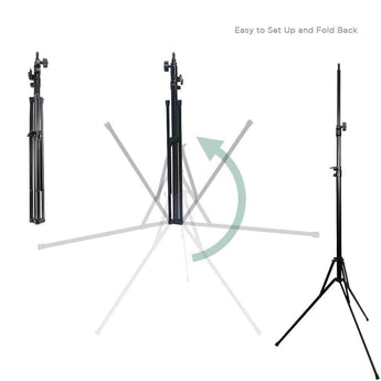 Pxel LS-215RFM 215cm 7 feet Reverse Fold Folding Light Stand with metal Joint for Photo Studio Lighting Flash Strobe
