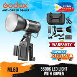 Godox ML60 5600K LED Light for Shooting Outdoors, Lightning, Flash
