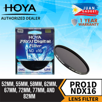 Hoya Pro1D NDX16 4 Stop Multi-Coated Neutral Density ND Filter for Camera Lens