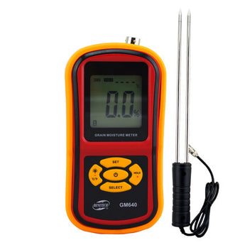 Benetech Digital Grain Moisture Meter with Measuring Probe for Corn Wheat Rice Bean Wheat Hygrometer