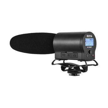 Boya BY-DMR7 Condenser Microphone Broadcast Quality w/ Integrated Flash Recorder for Canon Nikon Sony DSLR Cameras and Video Cameras