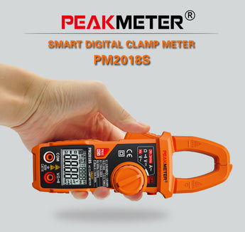 PeakMeter PM2018S Portable Smart AC Digital Clamp Meter Multimeter AC Current Voltage Resistance Continuity Tester
