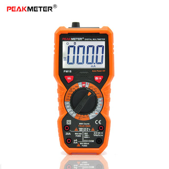 PeakMeter PM18C Digital Multimeter Measuring Voltage Current Resistance Capacitance Frequency Temperature NCV Live Line Tester