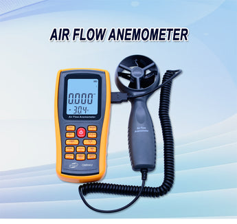 Benetech GM8902 Benetech Digital Anemometer Wind Speed Meter Air Flow Tester Measuring 0~45m/s with USB Handheld Anemometer Thermometer