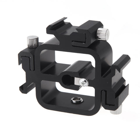 Pxel AA-LS1 Triple Head Hot Cold Shoe Splitter Mount Adapter for Camera Flash Speedlite with Umbrella Holder Photo Studio Accessories