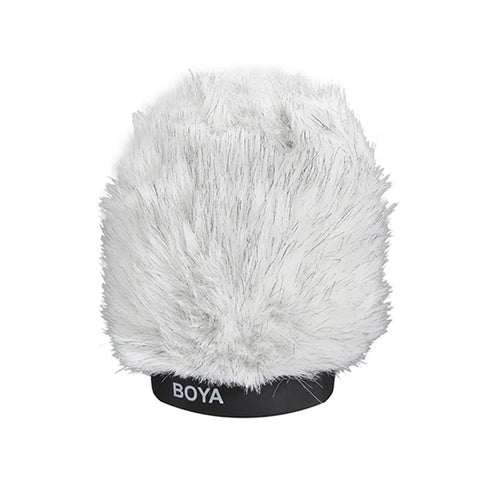 Boya BY-P100 Fur Windscreen Furry Windshield Muff for Shotgun Capacitor Microphone Wind Shield Protection Outdoor Interview Mic Foam