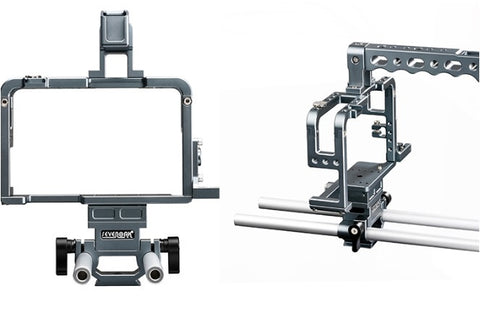 Sevenoak SK-GHC20 Aluminum Camera Cage with Top Handle Grip and Shoe Mount 15mm Rods for Camera Rig Panasonic Lumix DMC-GH3, GH4