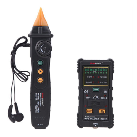 PeakMeter MS6816 Cable Wire Tracker Telephone Line DC Level Network Tester Meter For Telecommunications Networking Tools