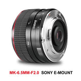 Meike MK-6.5mm 6.5mm F/2.0 APS-C Manual Focusing Fisheye Lens for Sony NEX-5N NEX-7 NEX-F3 NEX-5R NEX-6 NEX-3N NEX-5T A3000 A7 A7R A9 A5000 etc