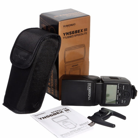 Yongnuo YN568EX III Version 3 E-TTL / E-TTL II Speedlite Flash for Canon Cameras