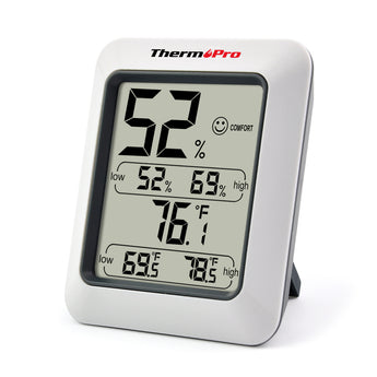 ThermoPro TP-50 Hygrometer Thermometer Indoor Humidity Monitor with Temperature Gauge Humidity Meter