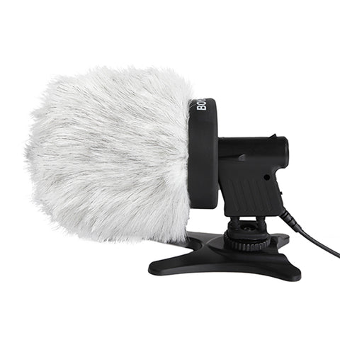 Boya BY-P80 Furry Outdoor Interview Windshield Muff for Shotgun Capacitor Microphones