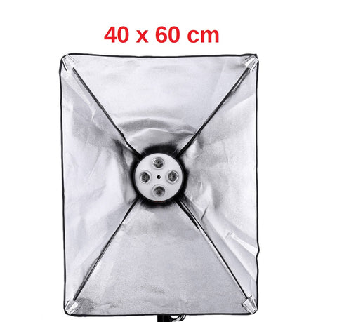 Pxel SB-4B-40X60 4 bulb light head Softbox Continuous lighting Digital light with 4 bulb holders,photographic lighting