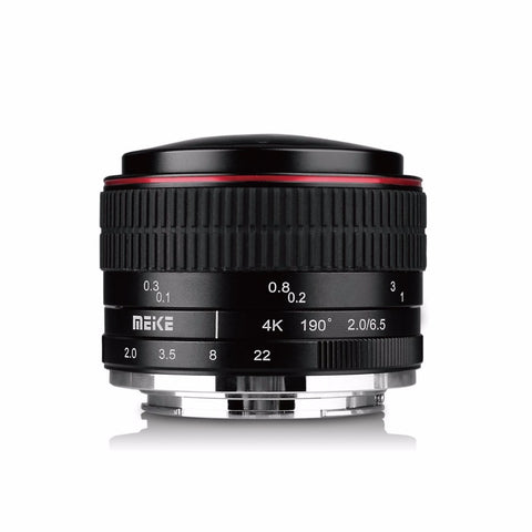 Meike MK-6.5mm F/2.0 6.5mm EF-M Ultra Wide F/2.0 Manual Focus Fisheye Lens for Canon Mirorrless Camera
