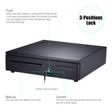 Logiscan YK405 Cash Register Drawer Box with 2 Keys 5 Bill 5 Coin for POS Printers RJ11