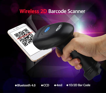 Logicscan YK-BWM3 Portable Wireless 2D 1D Barcode Scanner