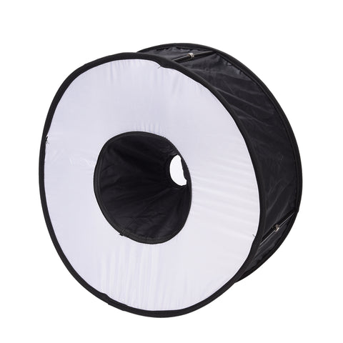 Pxel SB-MRF Magnetic Ring Flash Foldable Ring Speedlite Flash Diffuser Macro Shoot Round Softbox