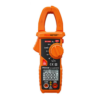 Peakmeter PM2018B Digital Clamp Meter Tester Handheld LCD Multimeter Auto Range Voltage Current Resistance Frequency Temperature