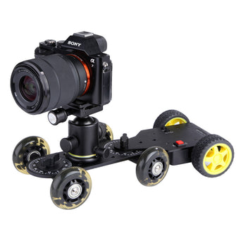 Sevenoak SK-MS01 Motorized Push Cart & 0.65mm Screw Knob Drop Motorized Dolly Adapter