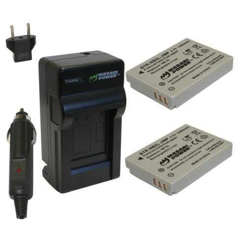 Wasabi Power Battery 5L NB-5L (2-Pack) and Charger for Canon NB-5L and Canon PowerShot S100, S110, SD700 IS, SD790 IS, SD800 IS, SD850 IS, SD870 IS, SD880 IS, SD890 IS, SD900 IS, SD950 IS, SD970 IS, SD990 IS, SX200 IS, SX210 IS, SX220 IS, SX230 HS
