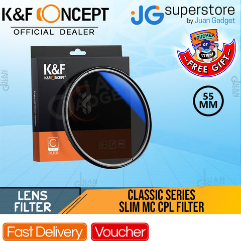 K&F Concept KF01-1436 Classic Series Slim Multicoated Circular Polarizer Optic Lens Filter (55mm)