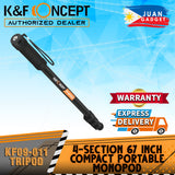 K&F Concept KF09-011 Camera Monopod, 4-section 67-171cm Compact Portable Travel DSLR Monopod