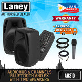 LANEY AH210 AudioHub Series Active Enclosures with Detachable Mixer, Bluetooth SD USB