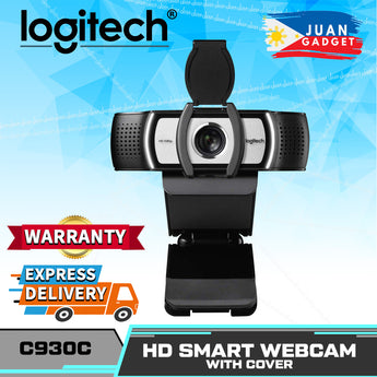 Logitech C930C HD Smart 1080P Webcam with Cover for Computer Zeiss USB Video Camera