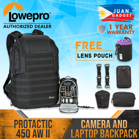 Lowepro ProTactic 450 AW II Camera and Laptop Backpack Bag (Black)