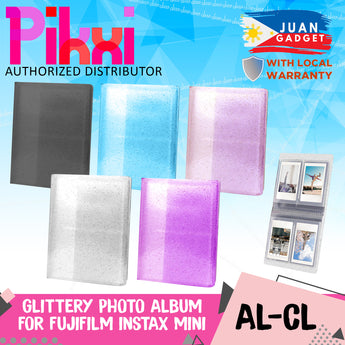 PIKXI Clear Transparent Glitter Photo Album 3 inch 64 Pockets Photos for Fujifilm Instax Mini Instant Camera