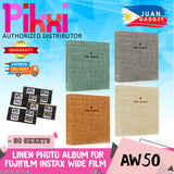 Pikxi AW100 100-Pocket Cotton Linen Photo Album for Fujifilm Instax Wide Instant Camera