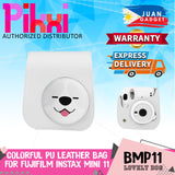 Pikxi BMP11 Fujifilm Instax Mini 11 PU Leather Camera Case Bag with Shoulder Strap & Back Side Pocket (Cute Designs)